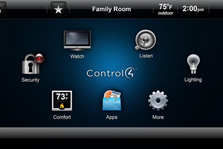 Control4 felhasználói grafikus kezelő felület